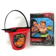 Disney Cars 3 Arm Floats and Sand Bucket & Shovel