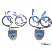 Posilňovacie prsiarské gumy obtiažnosť: ľahká modrá