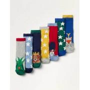 Mini Wappen Box mit Socken im 7er-Pack Jungen Boden, 23-26, Multi