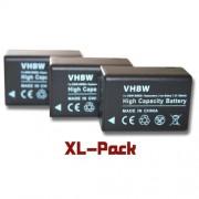 3 batteries 800mAh appareil photo Panasonic Lumix DMC-FZ40, DMC-FZ45, DMC-FZ47, DMC-FZ48, DMC-FZ100, DMC-FZ150, DMC-FZ72 remplace DMC-BMB9, DMW-BMB9E