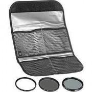 Set de filtre: Polarizare, Gray, UV (C), 58mm (HOY)