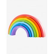 VERTBAUDET Puzzle em forma de arco-íris, em madeira amarelo vivo bicolor/multicolo