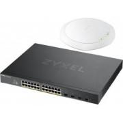 Switch ZyXEL Gigabit XGS1930-28HP + AP NWA1123 AC PRO