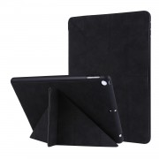 PU Leather Stand Tablet Case Shell with Pen Slot for iPad 10.2 (2019) - Black