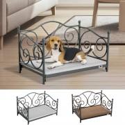 PawHut® Hundeliege Hundebett Katzenbett Haustierbett mit Kissen 2 Farben