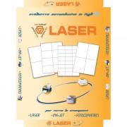 Etichette adesive di carta in fogli a4 48,5x16,9mm.