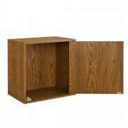 [en.casa]® Variabilní designový systém s dvířky - skříňky / poličky - 45x45x30 cm - imitace ořechového dřeva
