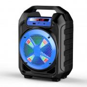 Hordozható hangszóró Bluetooth multimédia lejátszó akkumulátorral LED hangszóróval Mp3,FM-Rádió, 3,5 jack, USB, Micro SD kártya - B302-45