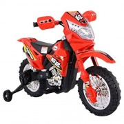 Costzon Kids Ride On Motorcycle with Training Wheel 6V Battery Powered Electric Toy New