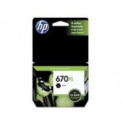 Cartucho de Tinta HP CZ117AB HP 670XL Preto 14,0 ML
