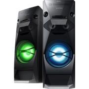 MINI SYSTEM SONY 1200w TORRE CD Player, Duplo USB, Dj Effect, Bass Bazuca, NFC, Bluetooth, Rádio AM/FM