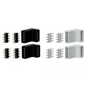 Set conectori de colt Paulmann YourLED max. 60W, 4 piese (2 x alb; 2 x negru)