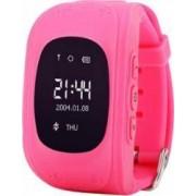 Ceas Smartwatch copii Wonlex Q50 functie telefon buton SOS monitorizare GPS SIM Roz