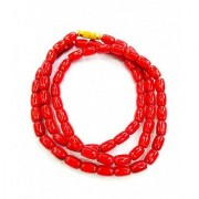 100 Original Certified Red Coral Beads Mala By Jaipur Gemstone