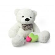White 3.5 Feet Bow Teddy Bear