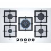 Bosch Ppq7a2b20 Piano Cottura A Gas 75 Cm 5 Fuochi Vetro Temperato Bianco