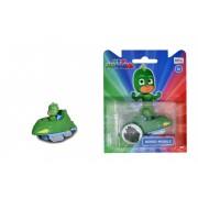 Figurina cu masinuta din metal Gekko Mobile - PJ Masks - Eroi in pijamale 7.5 cm