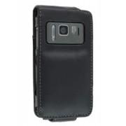 Synthetic Leather Flip Case for Nokia N8 - Nokia Leather Flip Case (Black)