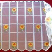 Vitrázs függöny napraforgós mintával, 90 cm magas