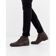 Jack & Jones faux leather desert boots in brown