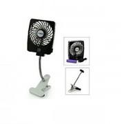 Hordozható akkus ventilátor - mobiltöltő funkcióval, USB csatlakozással
