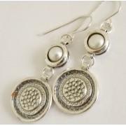 Cercei argint perla -E557 (Piatra: perla de cultura, Categorie: cercei)