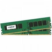 Crucial DRAM 16GB Kit 8GBx2 DDR4 2400 MT/s PC4-19200 CL17 SR x8 Unbuffered DIMM 288pin Single Ranked, EAN 649528776396 CT2K8G4DFS824A