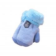 Cómoda de invierno espesar Velvet bebé lactante Chicas Chicos mantenga caliente guantes Azul