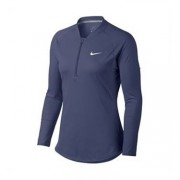 Nike Pure LS Top Half Zip Blue XS