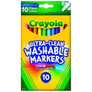 Crayola Ultraclean Fineline Classic Markers (10 Count)