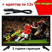 Телевизор 23 инча 12 волта за камион и кола Crown 23133 LED