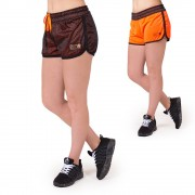 Gorilla Wear Madison Reversible Shorts - Black/Neon Orange - M