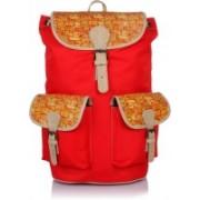 Suntop Dapper 5 25 L Free Size Backpack(Multicolor, Red)