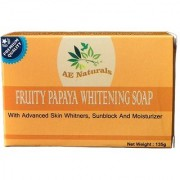 AE Naturals Premium Papaya Skin Whitening Soap With Sunblock 135g Pack of 4