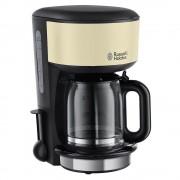 Cafetiera Russell Hobbs Colours Classic Cream 20135-56, 1000W, Tehnologie cu dus, 1.25 L, Functie anti-picurare, Functie mentinere la cald Inox