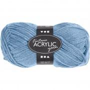 Merkloos 3x stuks bolletjes acryl wol lichtblauw 50 gram