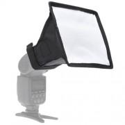 Portable Flash Folding Soft Box Without Flash Light Holder Size: 15 x 17 cm(Black + White)