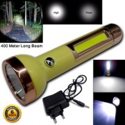 2in1 2 Mode Rechargeable Waterproof Long Beam Flashlight LED Torch Table Lamp Searchlight Outdoor/Emergency Light 9W