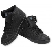 Cash Money Heren Schoenen - Heren Sneaker High - Army Full Black