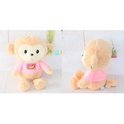 45CM Cartoon Monkey Dolls High Quality Soft Plush Toys Stuffed Animals Monkeys Toy (cream yellow)