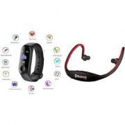 M3 fitness band and BS 19c bluetooth headset |Smart phones compatiable fitness band|| Heart rate band||Health Watch|| Calories Tracker Band|| Step Count Band||fitness tracker|| bluetooth smart band ||Wrist Watch band|| smart band ||With Alarm System||Best
