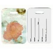 Caroline's Treasures SB3023BT Coral Pink Luggage Tag(Multicolor)