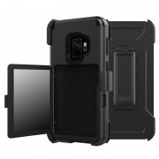 Samsung Galaxy S9 Heavy Duty Holster Case with Belt Clip - Black