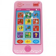 Cooplay Pink Toy Cell Phone Music Touch Screen Mobile Childy Early Education Learning ABC Letters Play Piano Animal...