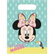 Disney 12x Disney Minnie Mouse uitdeelzakjes/snoepzakjes 16 x 23 cm kinderverjaardag