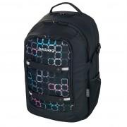 Rucsac Be.Bag ergonomic dimensiune 34x47x23 cm, motiv Beat Squares