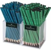 Creion Grafit Fara Guma Grip 2001 Verde-Petrol 2x72 Cutie Plastic Faber-Castell