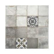 Gresie glazurata Antic Gris, motiv geometric, 45x45 cm