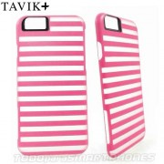 Funda TAVIK iPhone 6s/6 Hollow Transp Rosa Rayas