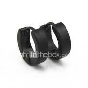 Heren Ring oorbellen Cirkelvormig ontwerp Kostuum juwelen Titanium Staal Sieraden Voor Dagelijks